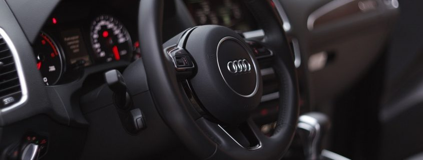 Audi interior, dashboard, steering wheel